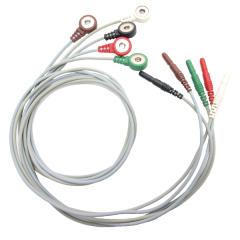 DIN EKG/EMG/EEG Snap Leads - 40 inch - 5 Lead Kit