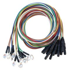 Technomed Silver Cup EEG Electrodes - 12 pack multi-color
