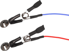 Technomed Silver/Silver Chloride Cup EEG Ear-clips - 2 pack